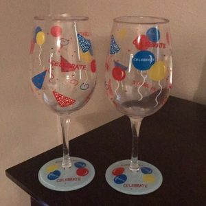 Lolita Celebrate Plastic Wine Glasses